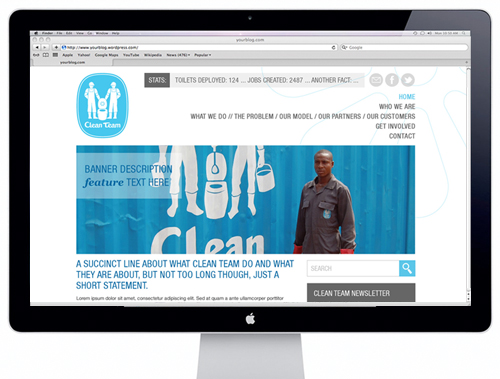Tipsy & Tumbler portfolio - Clean Team Web Design