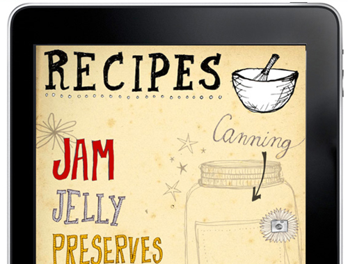 Tipsy & Tumbler portfolio Jam Recipes iPad App